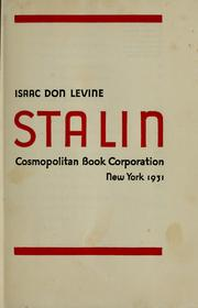 Cover of: Stalin by Isaac Don Levine