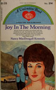 Cover of: Joy in the morning by Nancy MacDougall Kennedy