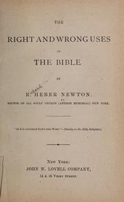 The right and wrong uses of the Bible PDF