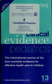 Clinical evidence pediatrics PDF