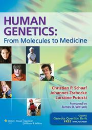 Cover of: Human genetics by Christian Patrick Schaaf