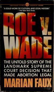 Roe v. Wade by Marian Faux