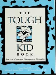 Cover of: The tough kid book by Ginger Rhode