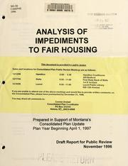 Analysis of impediments to fair housing PDF
