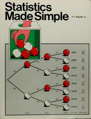 Cover of: Statistics made simple by H. T. Hayslett
