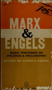 Basic writings on politics and philosophy by Karl Marx