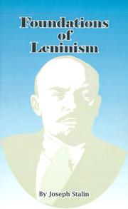 Foundations of Leninism by Joseph Stalin