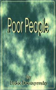 Cover of: Poor People by Fyodor Mikhailovich Dostoyevsky
