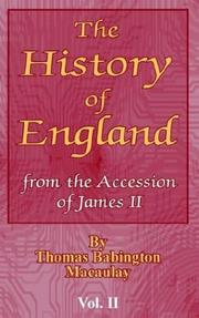Cover of: The History of England by Macaulay, Rose, Dame.