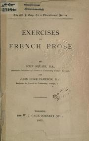 Exercises in French prose PDF