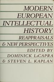 Cover of: Modern European intellectual history by Dominick LaCapra