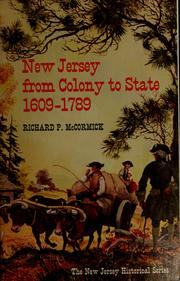 New Jersey from Colony to State, 1609-1789 PDF