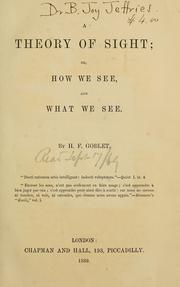 A theory of sight PDF