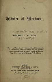 A winter at Mentone by Augustus J. C. Hare