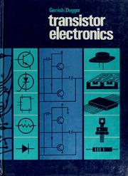 Transistor electronics by Howard H. Gerrish