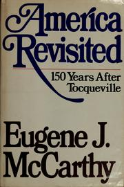 America revisited by McCarthy, Eugene J.