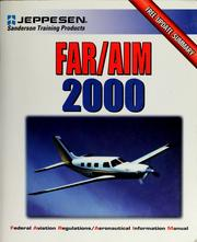 Cover of: FAR/AIM 2000 by Jeppesen Sanderson, inc