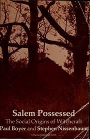 Salem possessed by Paul S. Boyer