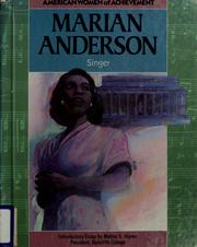 Cover of: Marian Anderson (American Women of Achievement) (Notable Black Americans of Achievement) by