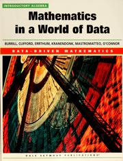 Cover of: Mathematics in a World of Data Introductory Algebra (Data-Driven Mathematics) by 