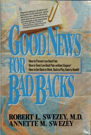 Good news for bad backs by Robert L. Swezey