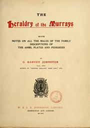 Cover of: The heraldry of the Murrays by G. Harvey Johnston