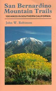 San Bernardino mountain trails by Robinson, John W.