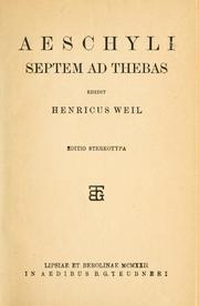 Septem ad Thebas PDF