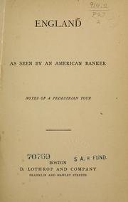 England as seen by an American banker PDF
