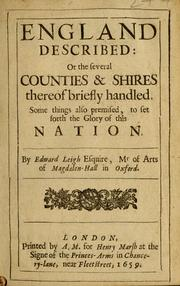 England described: or The several counties & shires thereof briefly handled PDF