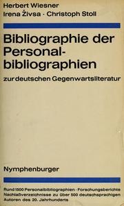 Bibliographie der Personalbibliographien zur deutschen Gegenwartsliteratur.