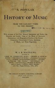 A popular history of music PDF