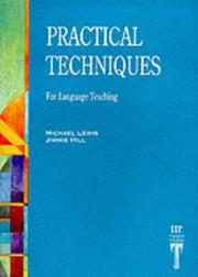 Practical Techniques for Language Teaching by Michael; Hill, Jimmie Lewis