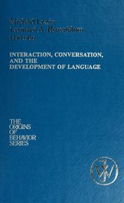 Interaction, conversation, and the development of language by