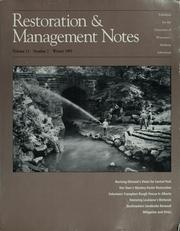Restoration & management notes by University of Wisconsin--Madison. Arboretum