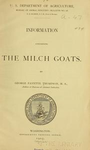 Information concerning the milch goats PDF