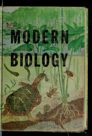 Cover of: Modern biology | Truman Jesse Moon