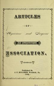 Articles of Physicians and surgeons co-operative association PDF