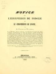 Notice sur l'Eurypterus de Podolie et le chirotherium de Livonie PDF