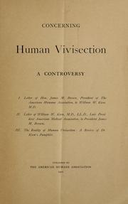 Concerning human vivisection PDF