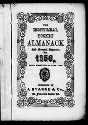 The Montreal pocket almanack and general register for 1856 by 