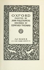 Cover of: Oxford by Thomas, Edward
