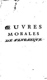 Œuvres morales by Plutarch