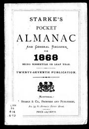 Starke&#39;s pocket almanac and general register for 1868 by 