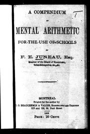 A compendium of mental arithmetic for the use of schools
