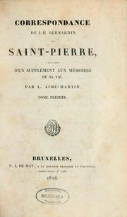 Correspondance by Jacques Henri Bernardin de Saint-Pierre
