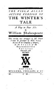 Cover of: The winter's tale by William Shakespeare