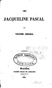 Jacqueline Pascal by Cousin, Victor