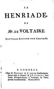 Cover of: Henriade by Voltaire