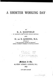 A shorter working day by Hadfield, Robert Abbott Sir, bart.